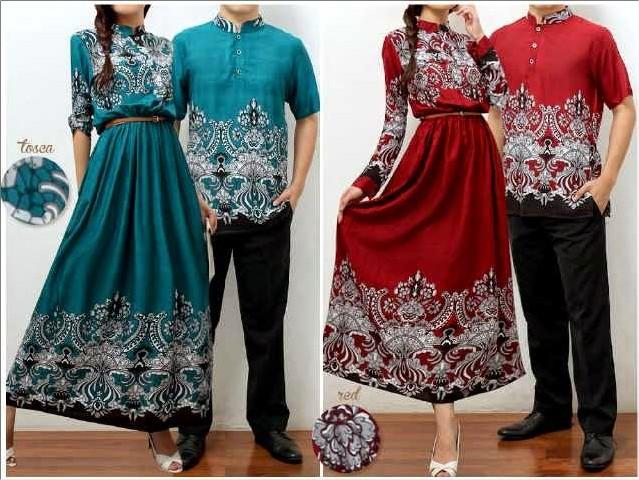 Busana batik untuk couplean terbaru april 2016 Baju gamis anak muda