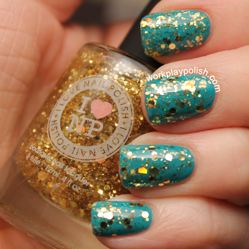 I Love Nail Polish All Gold Everything over Butter London Slapper (work / play / polish)