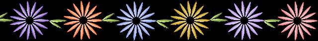 Разделители для текста с ромашками