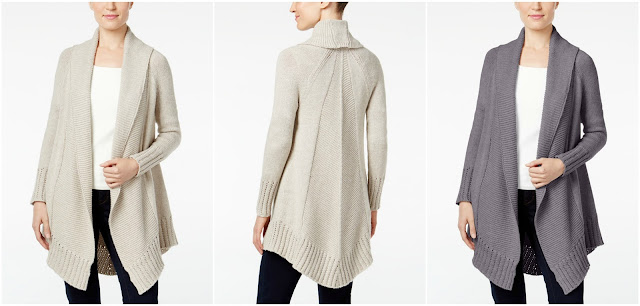 Style & Co Shawl-Collar Open Front Cardigan $32 (reg $70)