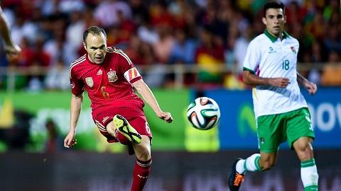 Đêm qua, Tây Ban Nha đã thắng Bolivia 2 - 0