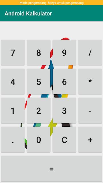 cara membuat kalkulator sederhana di android studio
