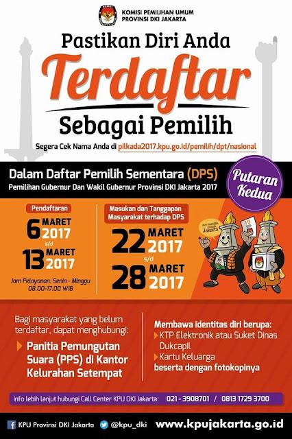 Ayo Mendaftar Putaran II PIlkada DKI Jakarta 2