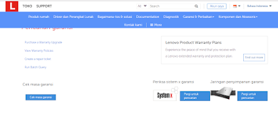 tutorial Cek Garansi Lenovo Melalui SMS dan Online