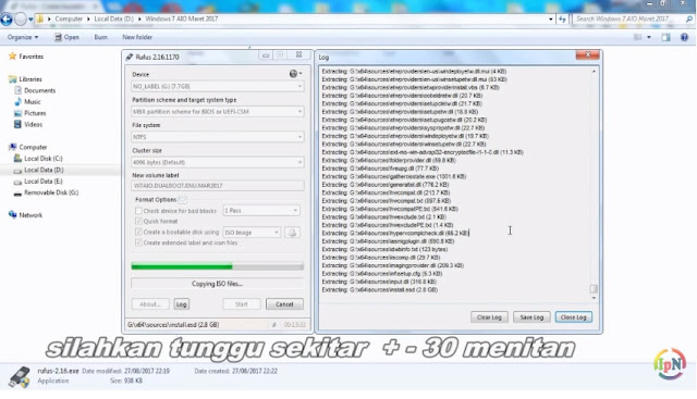 cara install windows 7 dari flashdisk rufus