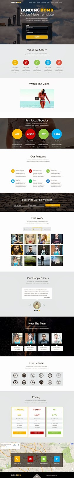 Premium Landing Page Muse Template 2015