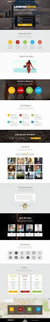 Premium Landing Page Muse Template 2015