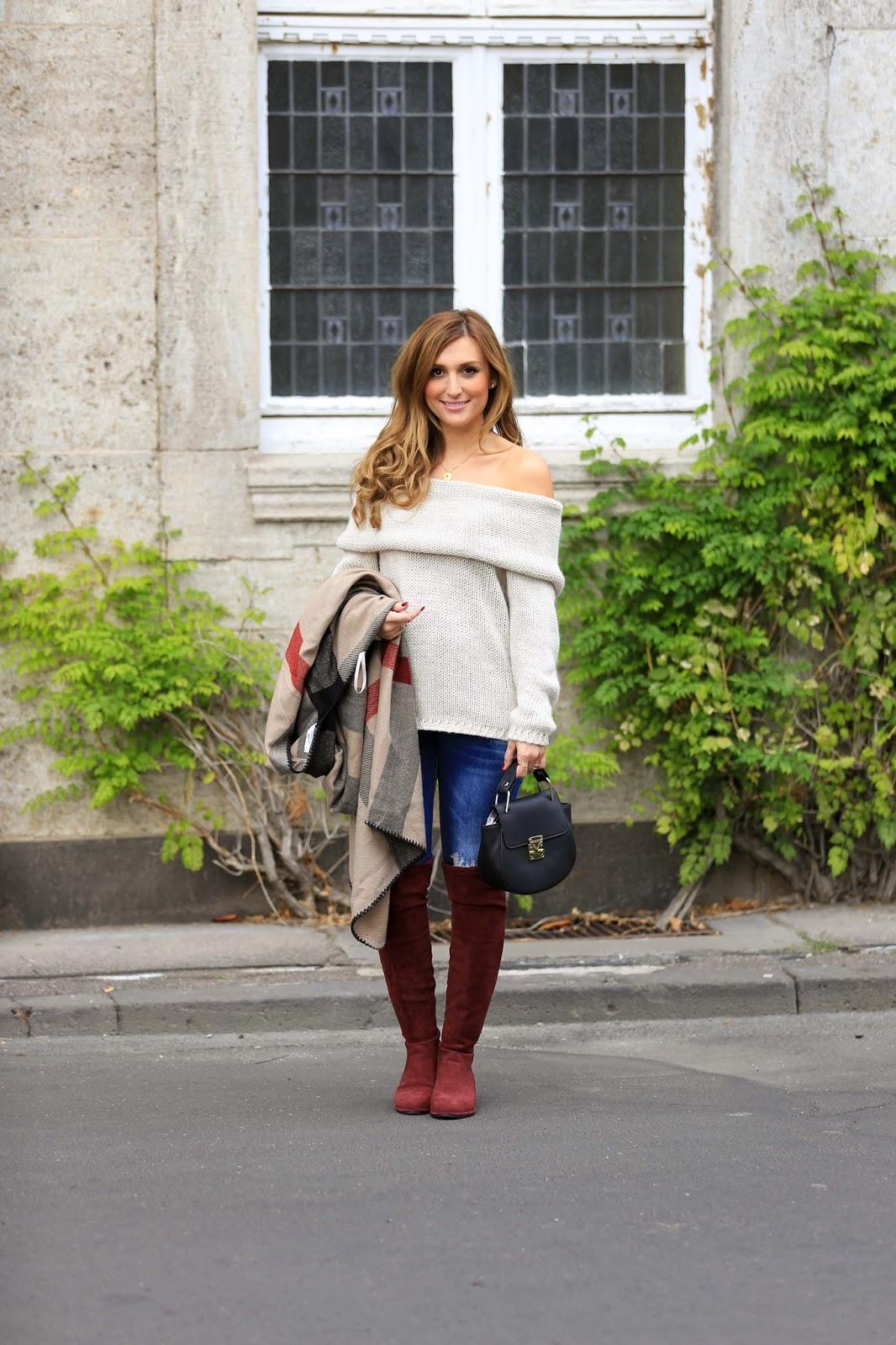 Was trägt man im Herbst Blogger aus Deutschland-Deutsche Fashionblogger - Deutsche Blogger- Blogger Deutschland-Fashionstylebyjohanna-OffShoulder- Off-ShouldernPullover