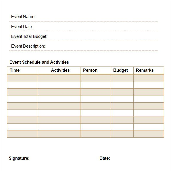 Event Proposal Template Free Download  Excel Template
