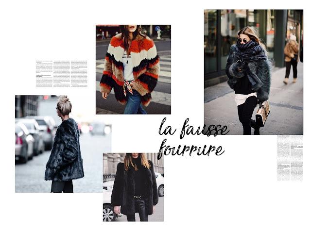 fausse fourrure manteau