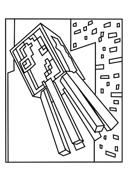 Minecraft Squid  Minecraft Coloring Ebook Edition  With Printable  Minecraft Coloring Pages