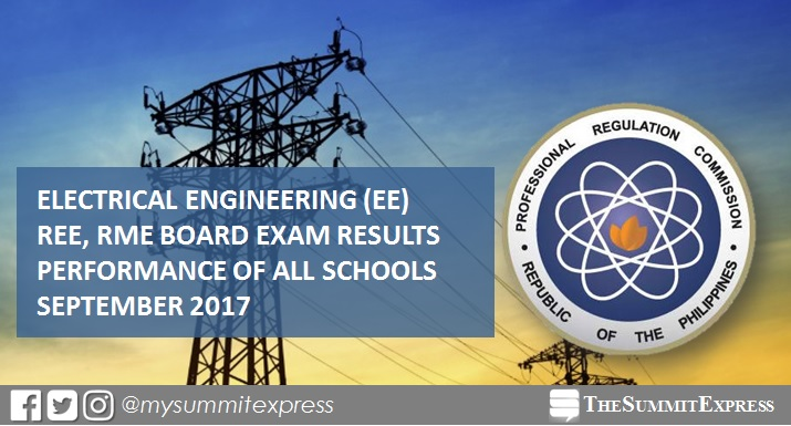 September 2017 Electrical Engineer REE, RME board exam