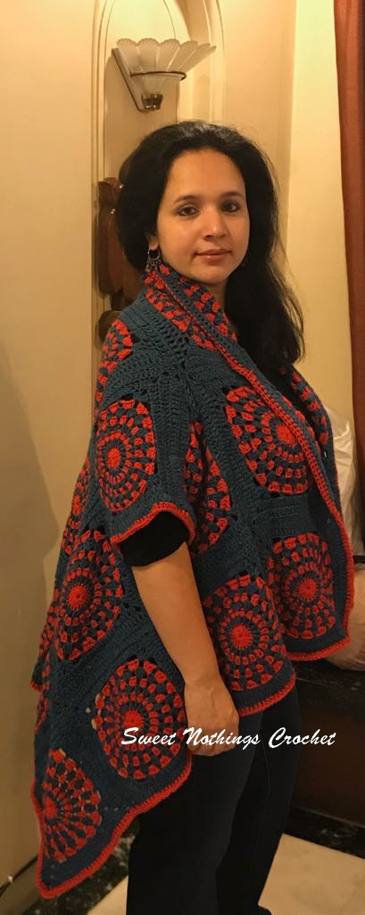 Sweet Nothings Crochet Granny Square Kimono Jacket