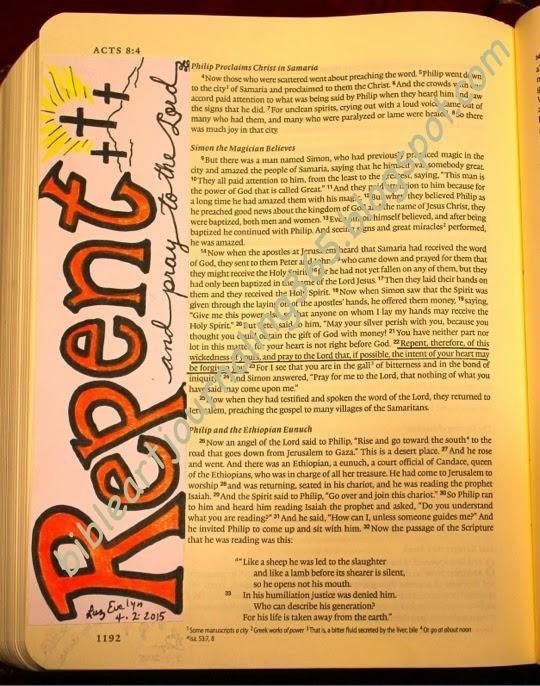 Acts Bible Journaling Art