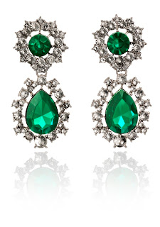 Emerald Earrings, Anna Dello Russo for H&M