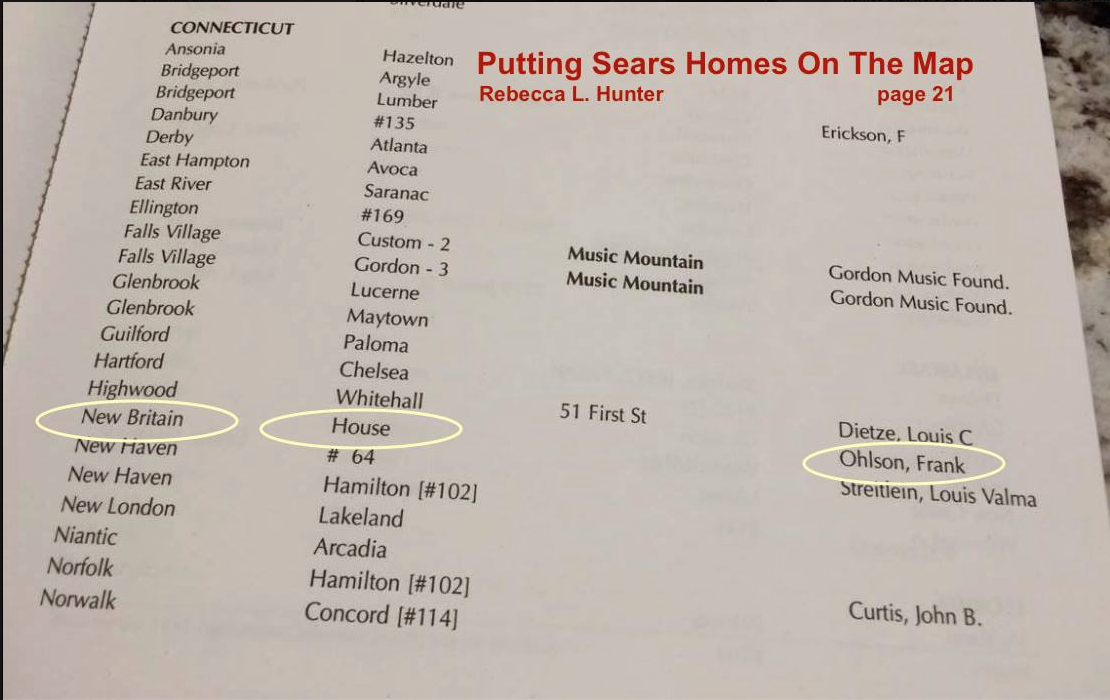Sears House Seeker: Sears Crescent: Frank Ohlson's