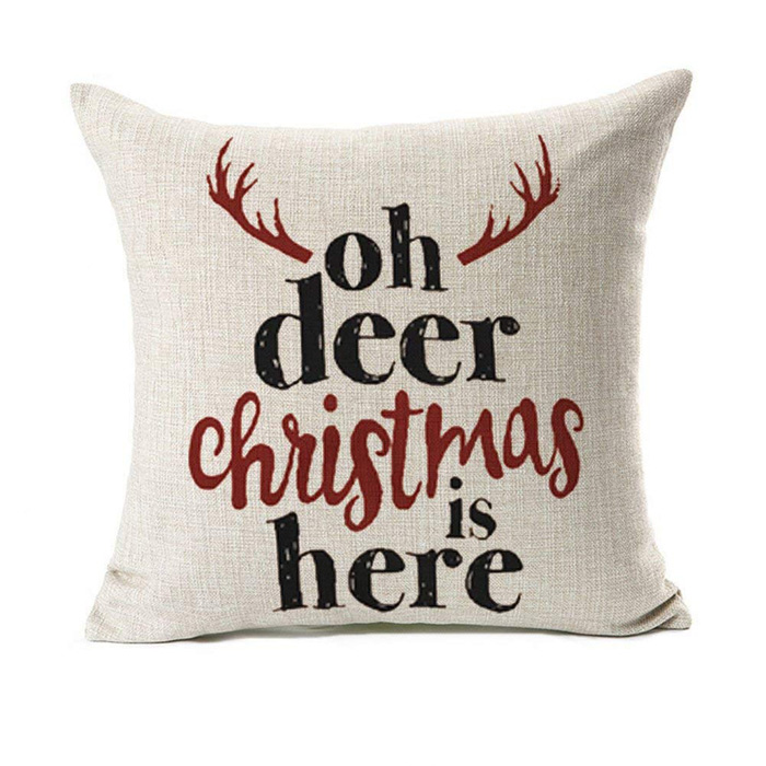 Deer Christmas Pillow