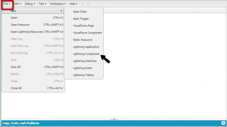 Salesforce Lighting Component - part 1