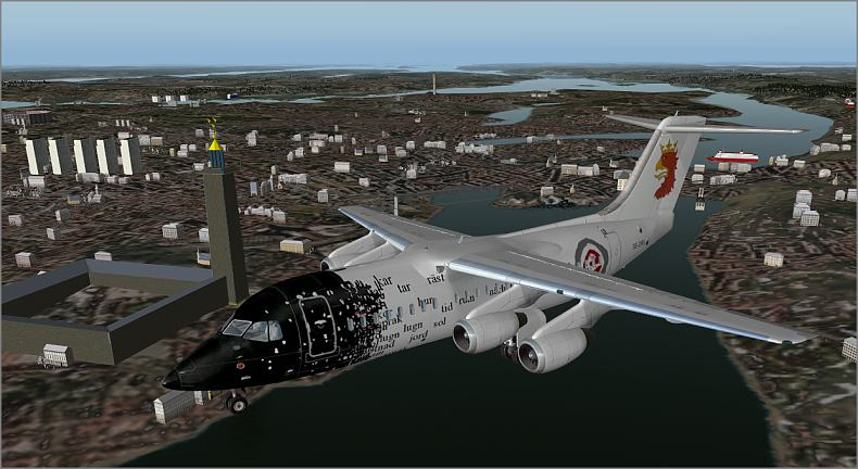 Urban's X-Plane experience: RJ85 with 3D cockpit - quick view