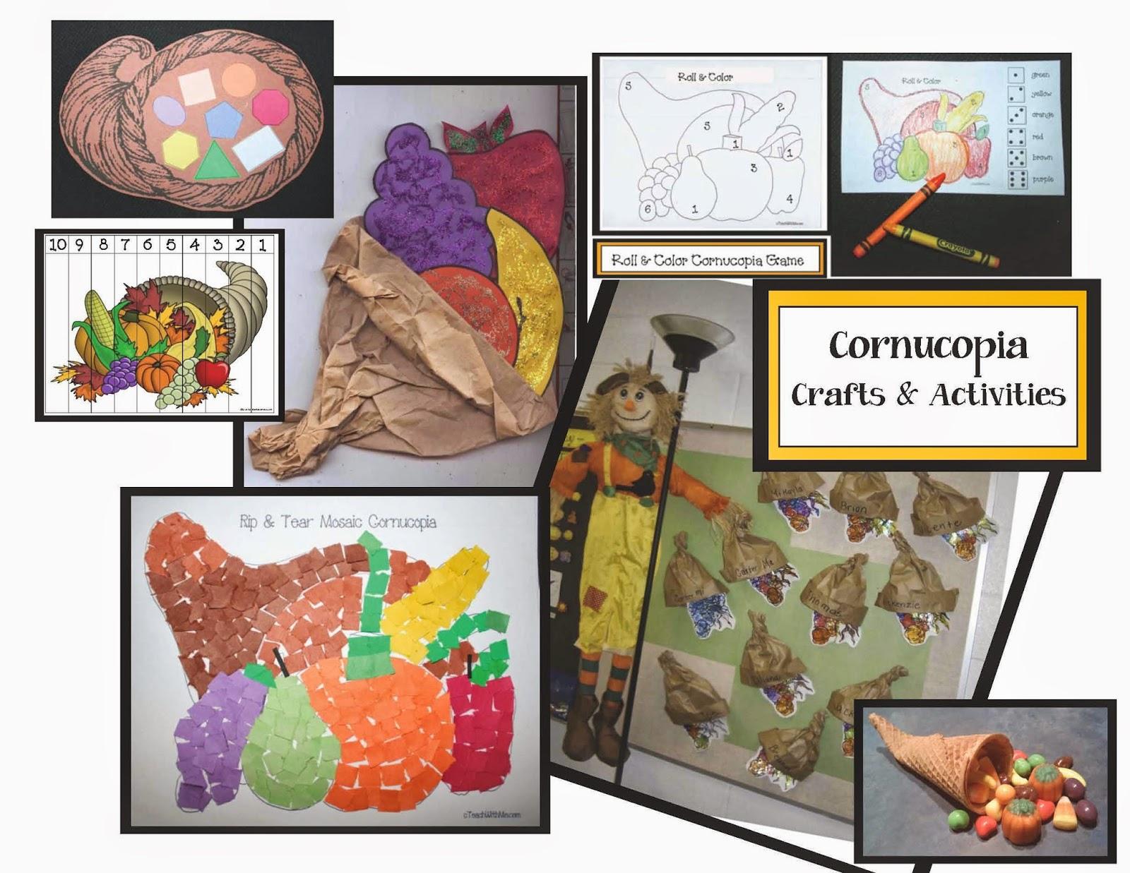 Classroom Freebies Cornucopia Themed Activities