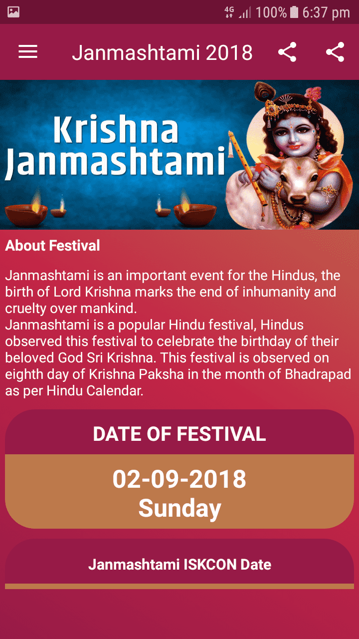 Festivals Date Time Android App