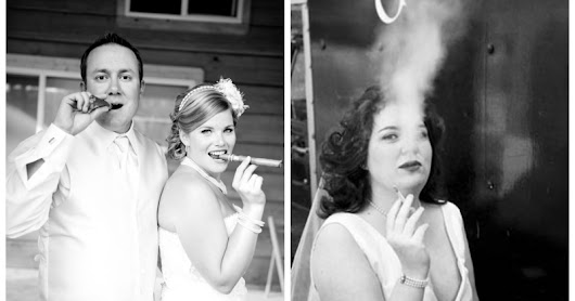 Discussion: Should a Bride smoke on her Wedding Day?