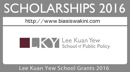 Lee Kuan Yew School Grants 2016