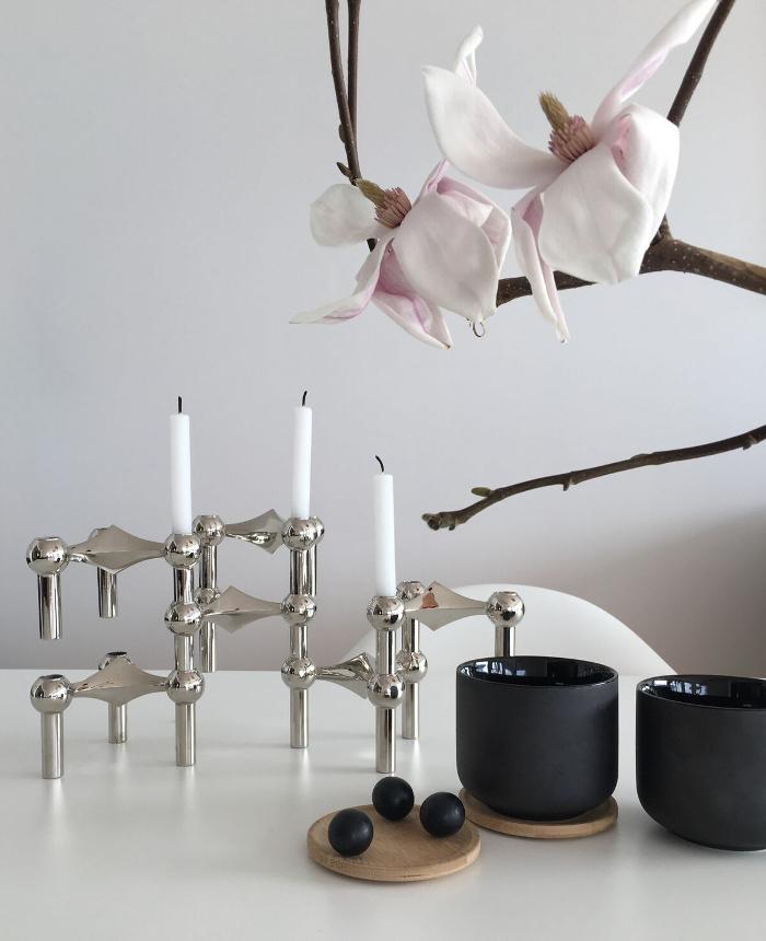 nagel, ljusstake, annelies design, webbutik, krom