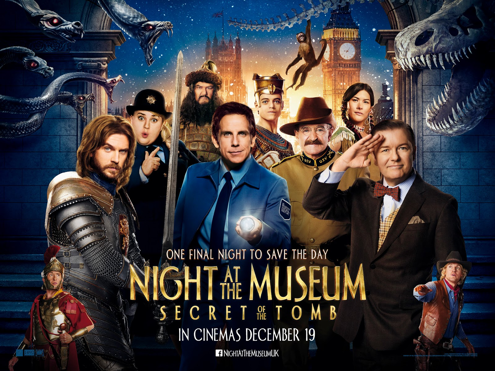Night At The Museum: Secret Of THe Tomb (2014) ταινιες online seires xrysoi greek subs