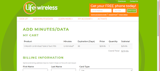 Life Wireless Refill Codes