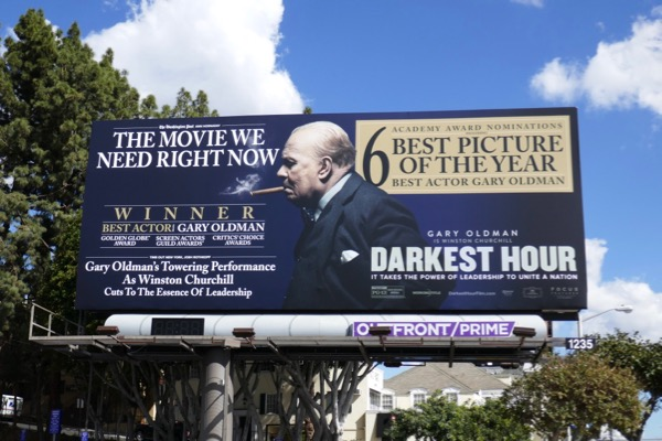 Darkest Hour Oscar nominee billboard