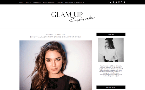 Glam Up Free Blogger Template