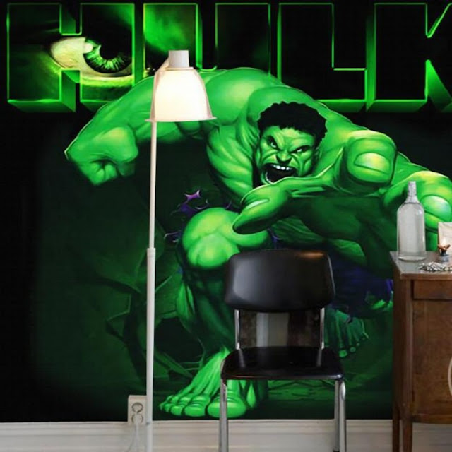 marvel wall murals 3d Hero wallpaper mural childrens room comics Photo Wallpaper Kids Boys hulk movie