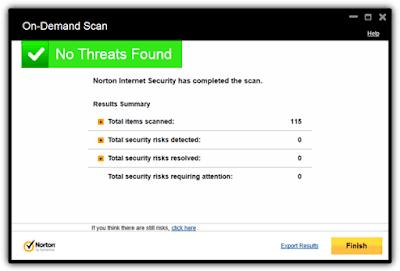 Norton-Internet-Security-No-Threat