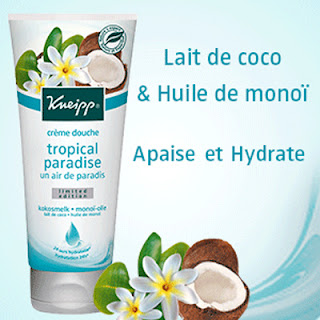 50 Crème Douche tropical paradise Un air de Paradis de Kneipp