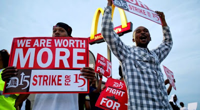 McDonalds Workers Demand Higher Pay - Source: Senator Bernie Sanders - http://www.sanders.senate.gov/newsroom/recent-business/starvation-wages-for-fast-food-workers