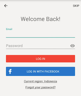 Form Login Aplikasi Shopback
