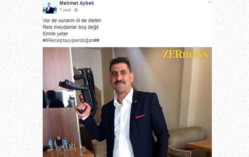 AK Partili Yönetici CHP MP5 Silah Vur de Vuralım Adalet Yürüyüşü