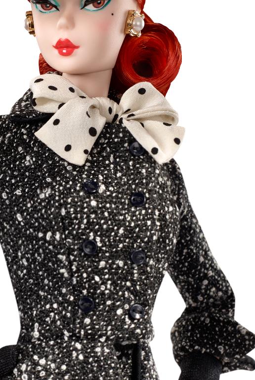 2017 SILKSTONE BARBIE  **DRESS ONLY*** BLACK /&WHITE TWEED SUIT DRESS
