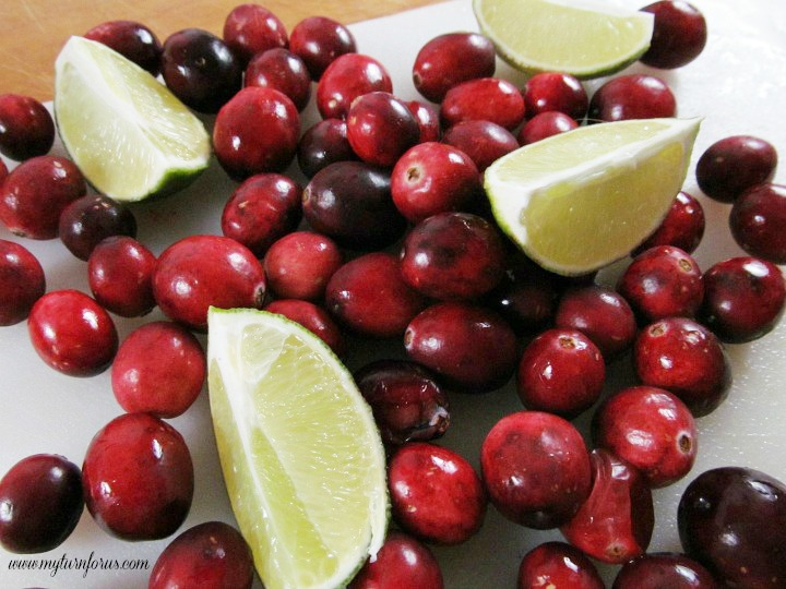 Fresh Cranberries and limes