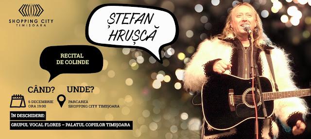 Ștefan Hrușcă va sustine un recital de colinde la Timișoara