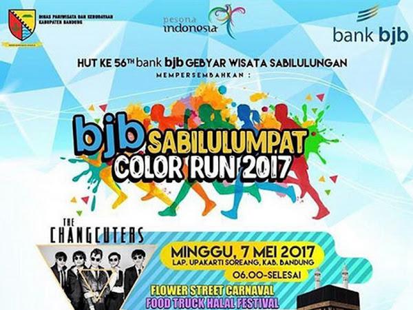 Bank BJB Gelar Sabilulumpat Color Run 2017 di Soreang