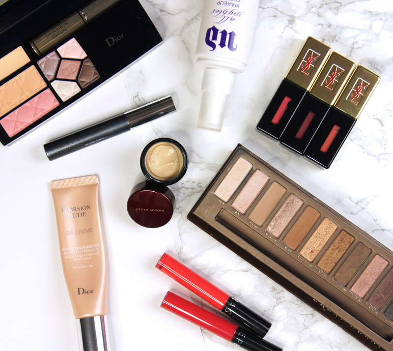 city break travel beauty essentials makeup bb creme full coverage concealer setting spray long lasting lip products all in one palettes