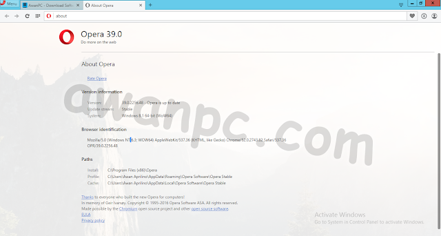 Download Opera 39.0 Build 2256.48 Stable Final Offline Install Terbaru