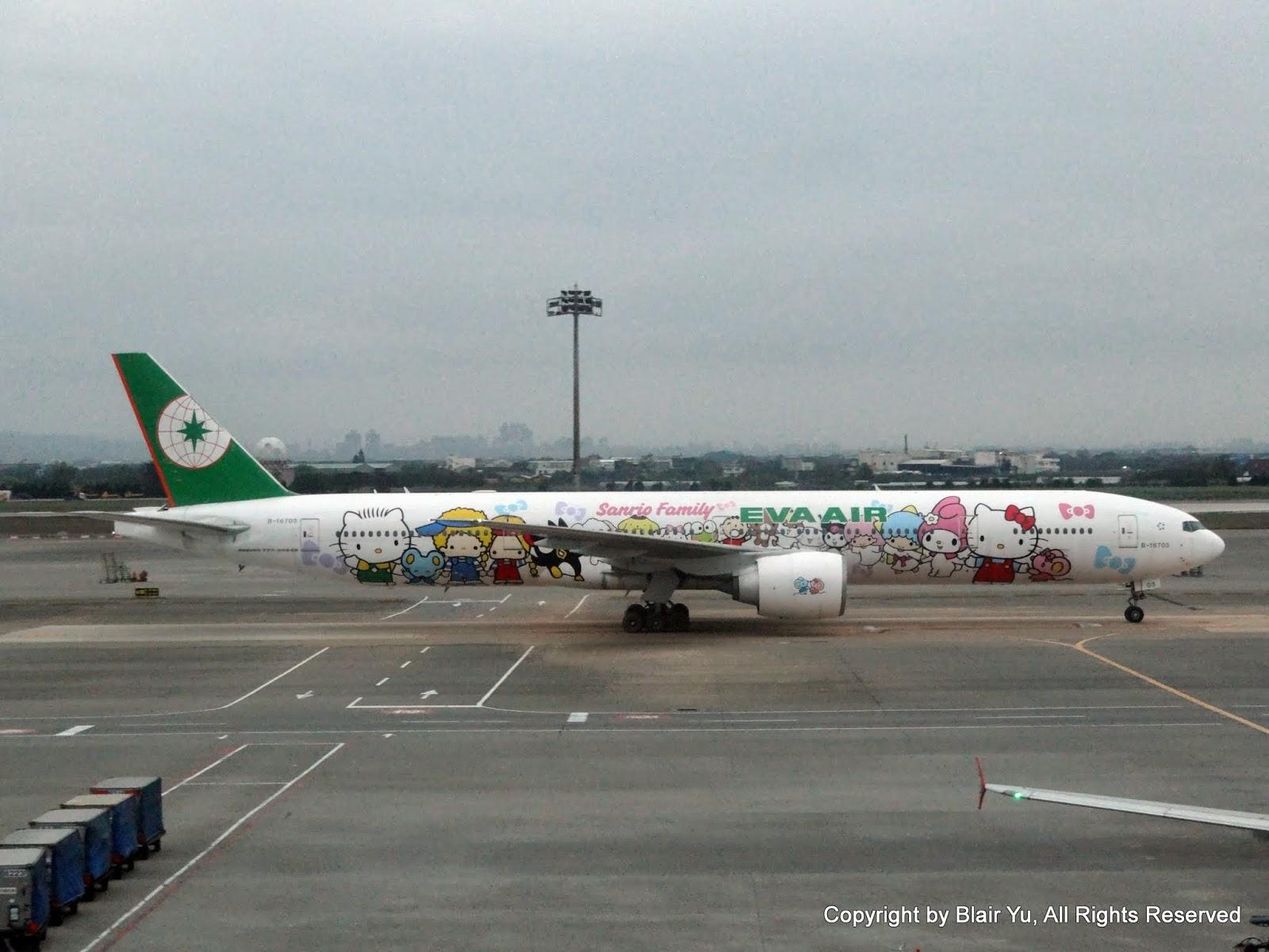 長榮航空 EVA AIR B-16703 777-300ER HELLO KITTY Sanrio Family Hand in Hand 牽手機