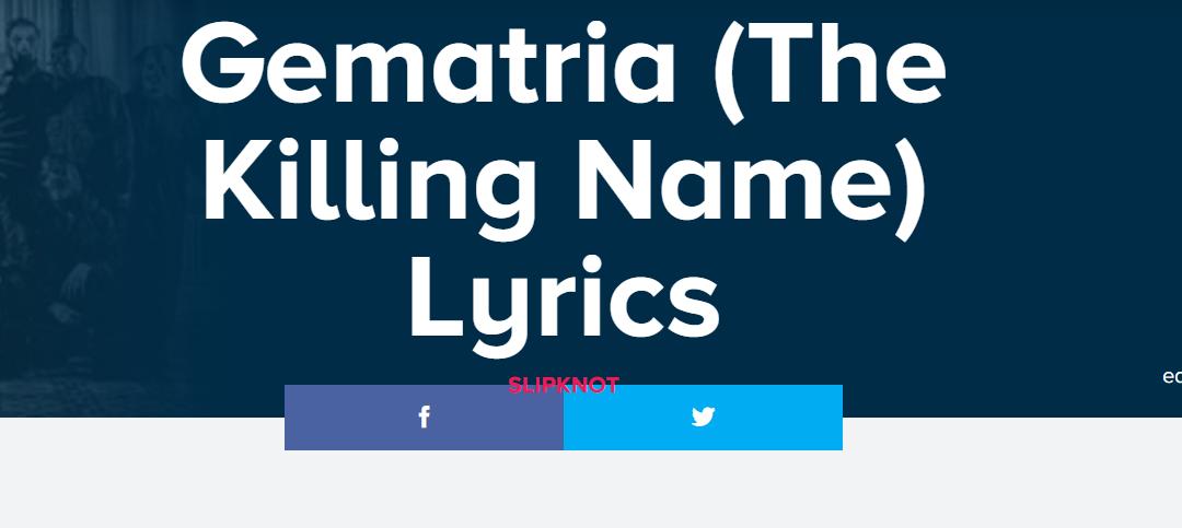 Lyric friend of god lyrics : The Mindless Freaks: Slipknot-Gematria(The Killing Name)-more info ...
