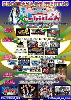 programa feria xochitlán todos santos 2018