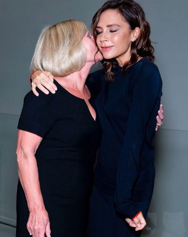 VICTORIA BECKHAM AND MOTHER