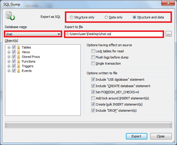 notesOfMyJavaCareer: Import/Export MySQL database with SQLyog