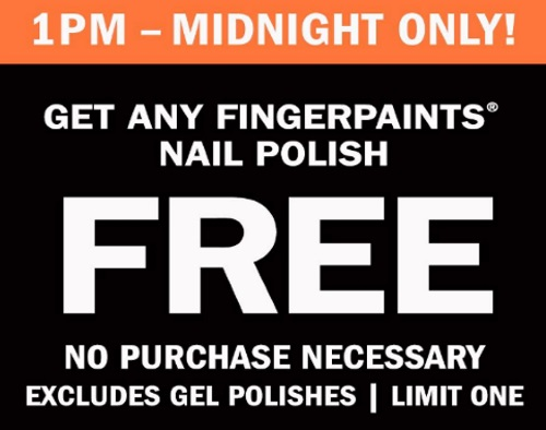 Sally Beauty Free Fingerpaints Nail Polish